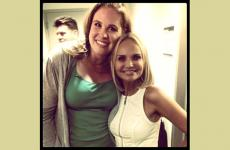 Kristin Chenoweth (right) and her talented fan, Sarah Horn