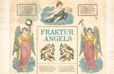 Pennsylvania Dutch Fraktur baptism angel document