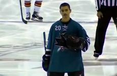 San Jose Sharks fan Sam Tageson
