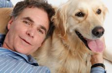 Edward Grinnan and his Golden RetrieverMillie
