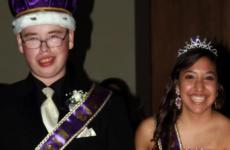 Adam Chadwick with prom queen