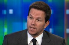Mark Wahlberg while being interviewed by Piers Morgan on CNN