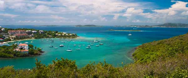 A scenic shot of the island of St. John in the US Virgin Islands